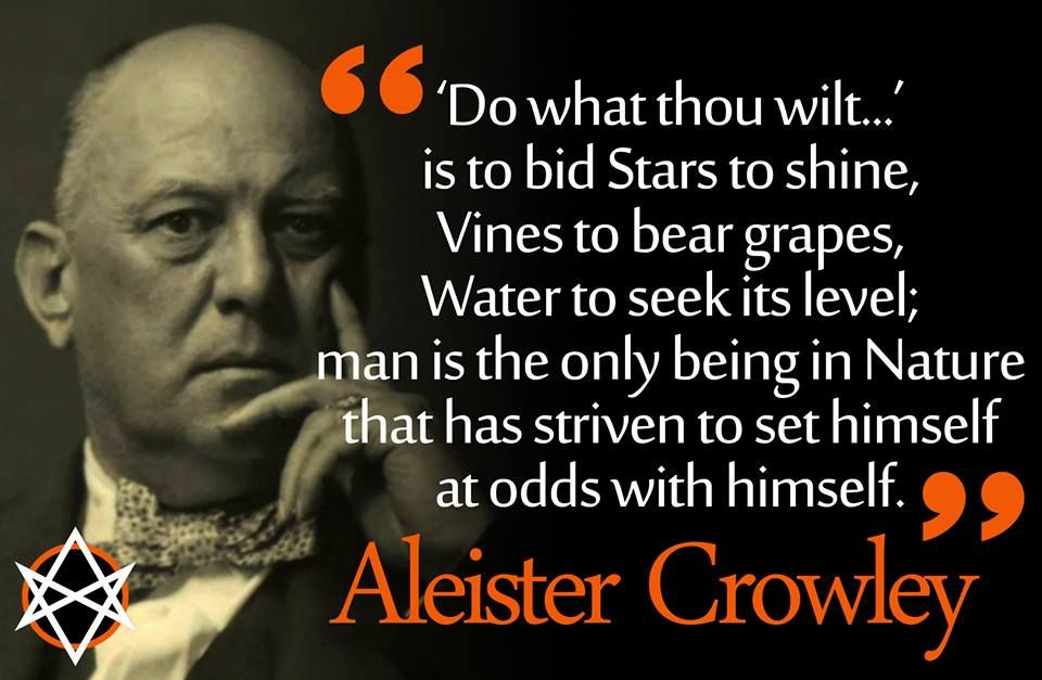 Aleister Crowley | Crowley quotes, Aleister crowley, Philosophy quotes