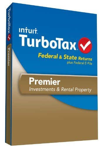 Turbotax Premier Fed Efile And State 2013 With Refund Bonus Offer Turbotax Efile Tax Software