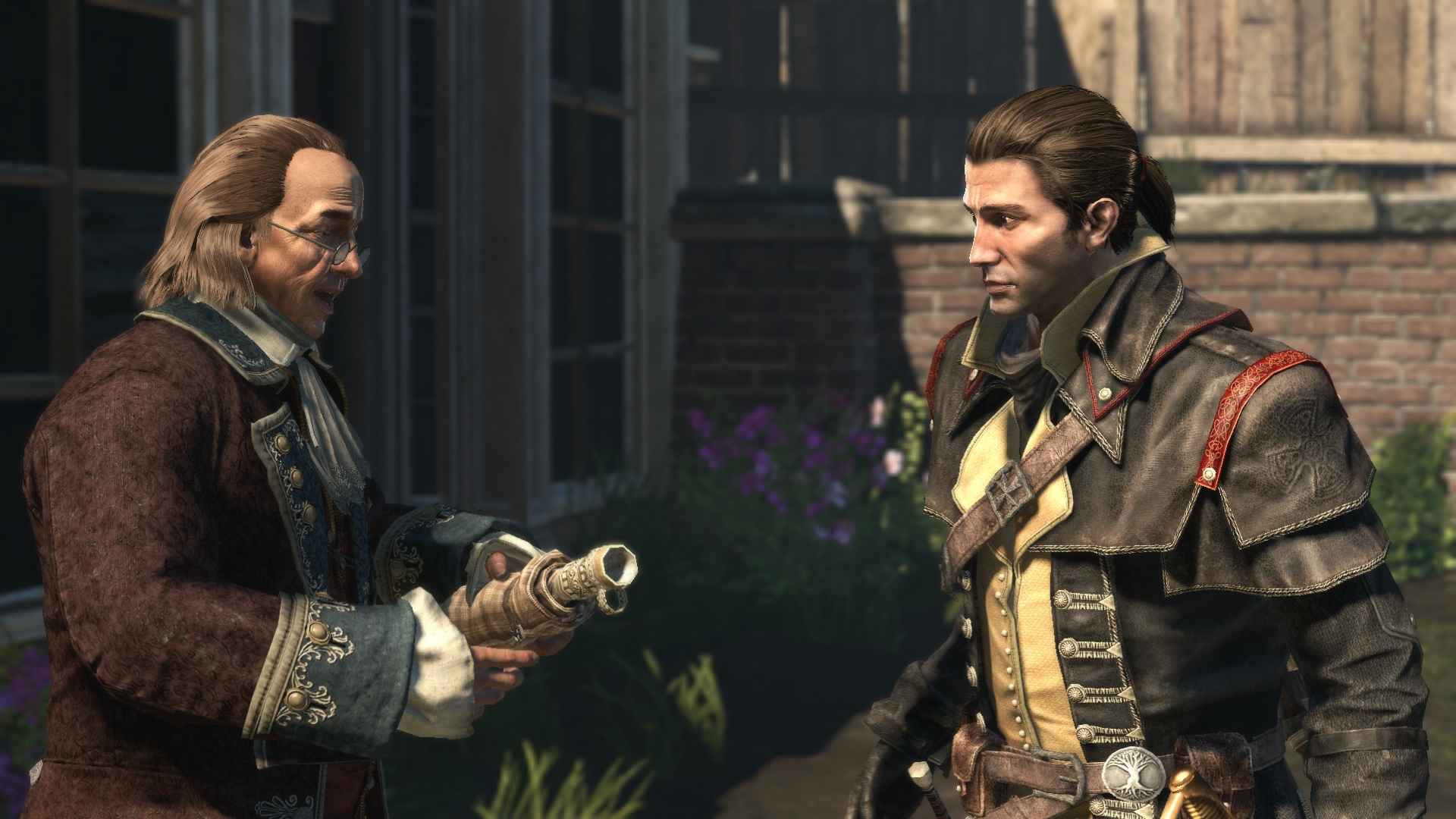 Assassin's Creed Rogue: Shay Cormac and Benjamin Franklin (With ...