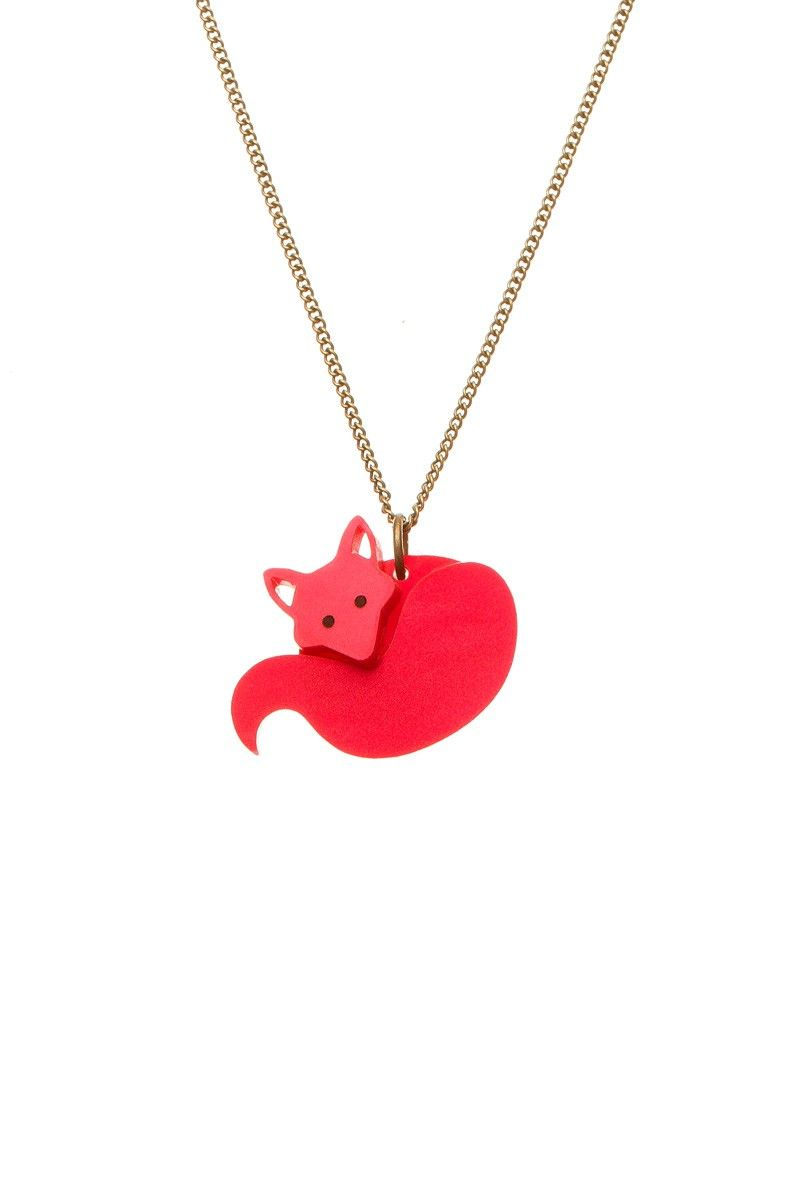 Say hello to the newest member of our fox family - the Fox Necklace in Red Pearl! We're excited to usher in a new marbled red colour way for winter: http://www.tattydevine.com/fox-necklace-red-pearl.html