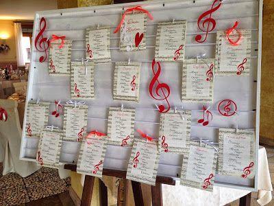 Il Dire Il Fare Matrimoni A Tema Musica Centritavola Musicali Matrimoni A Tema
