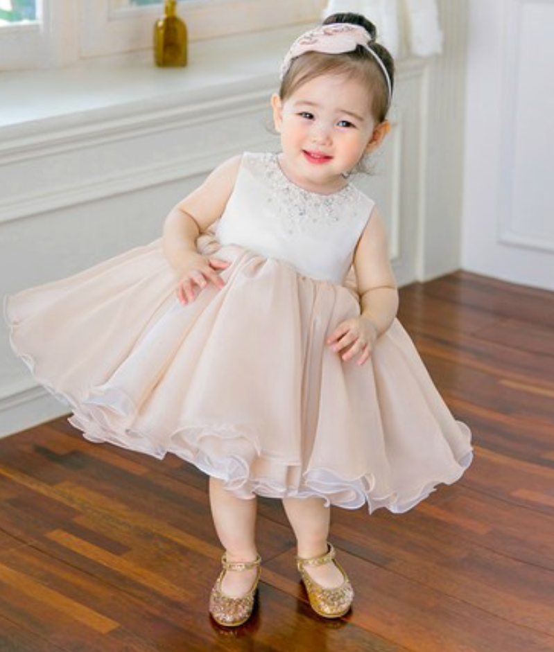 Flower Girl Dress Pink Flower Girl Dress Pale Perfectdress