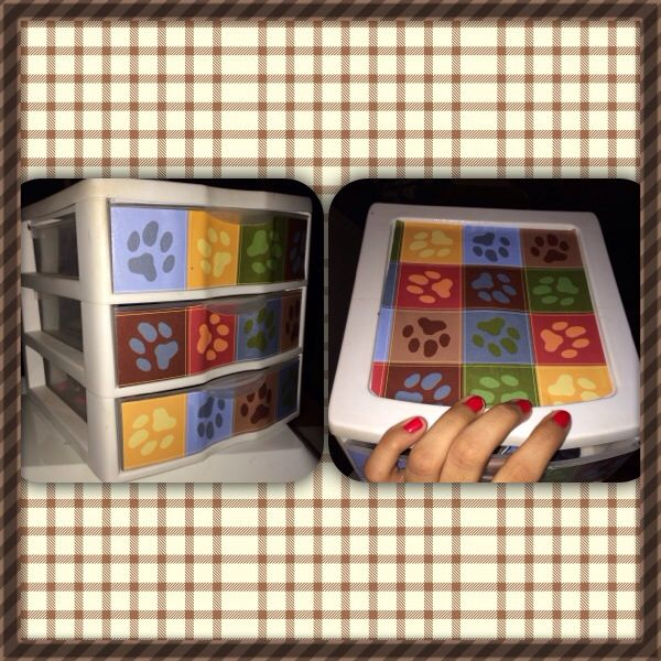 Family Dollar Storage Container Scrapbook Paper And Mod Podge