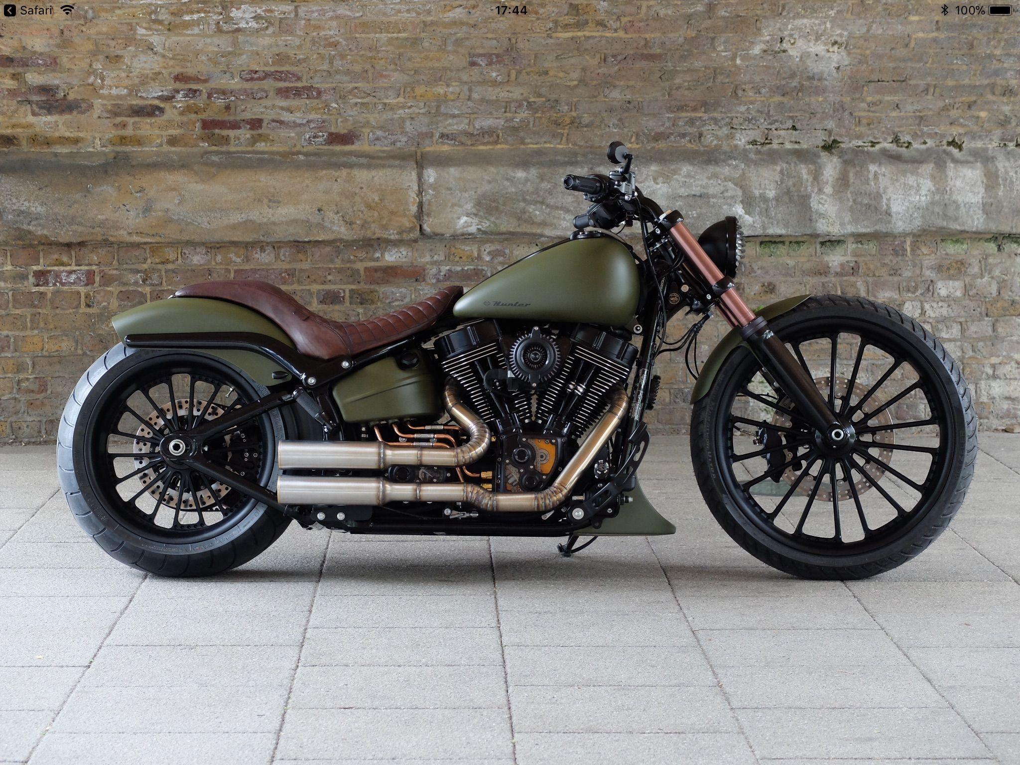 Old School Refab Bobber Motorcycle Harley Bikes