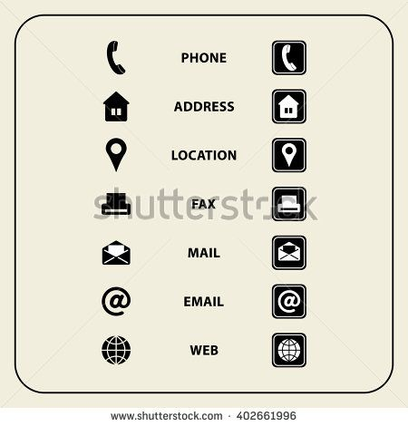 Set Of Web Icons For Business Cards Finance And Communication