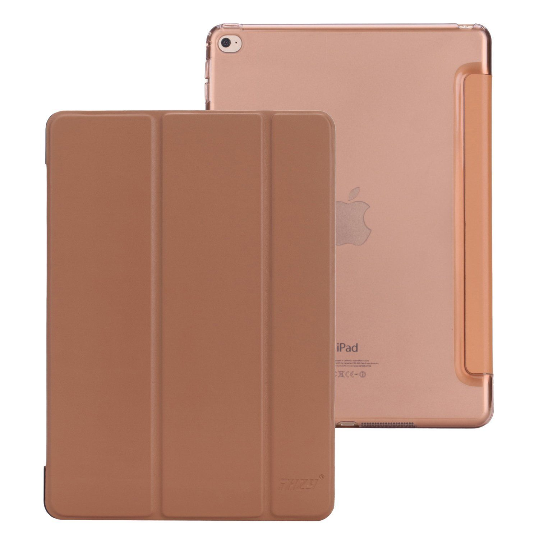 Thzy Ultra Slim Case For Ipad Air 2 With Mocha Brown Color Fundas Transparente