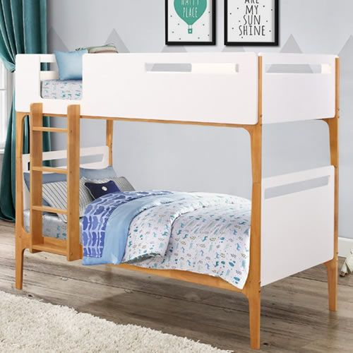 The Islington Wooden Bunk Bed In A Choice Of White Or Grey Finish Makes Perfect