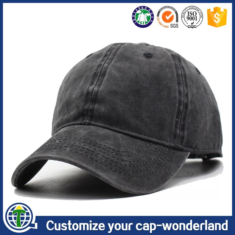 526ccbd9 China wholesale websites plain distressed baseball cap, golf cap, denim washed  dad cap