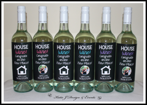 a4cb79d66a0 Housewarming House Warming New Home Personalised Wine Bottle Labels Shop  Online Australia Ideas Inspiration Katie J Design and Events Gift Presents  Present ...