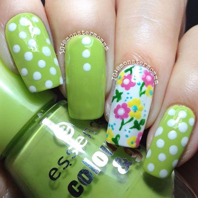 Instagram photo by @monstermommm #nail #nails #nailart | uñas ideas ...