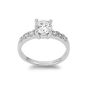 Gentil Solitaire .925 Sterling Silver 1.25ct Simulated Diamond Engagement Ring.  Sooooo Pretty.