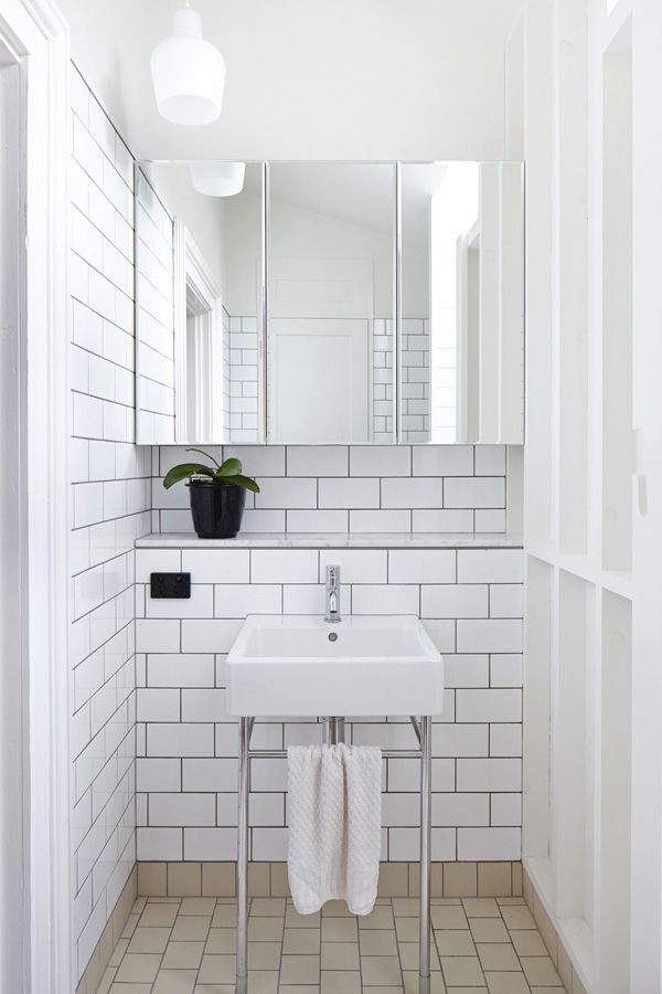 White bathroom Design Files