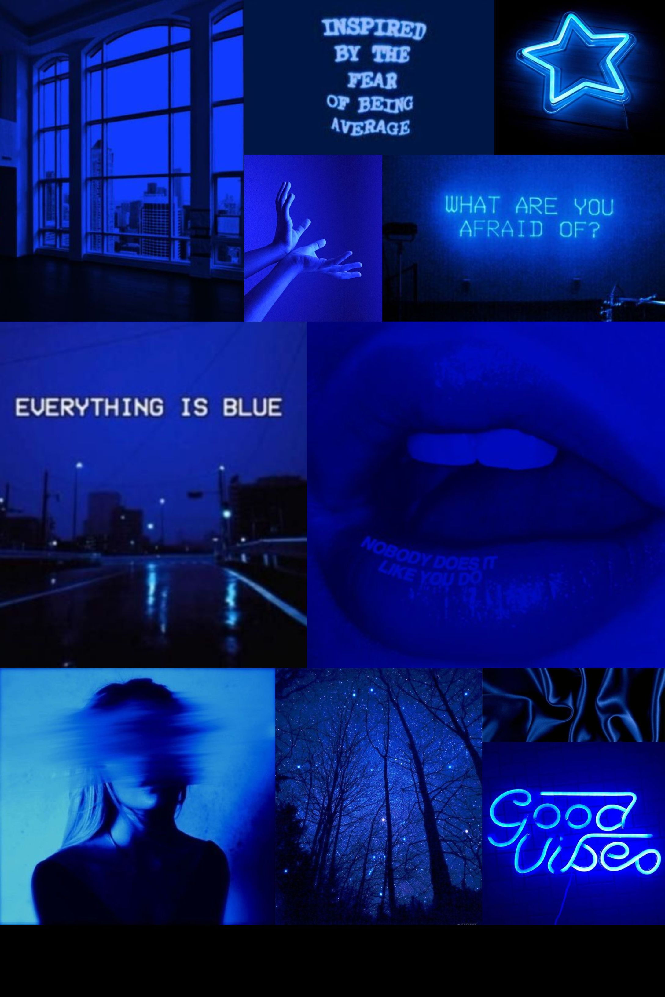 Blue Mood Board Aesthetic Collage Wallpaper Blue Aesthetic Dark Dark Blue Wallpaper Blue Aesthetic