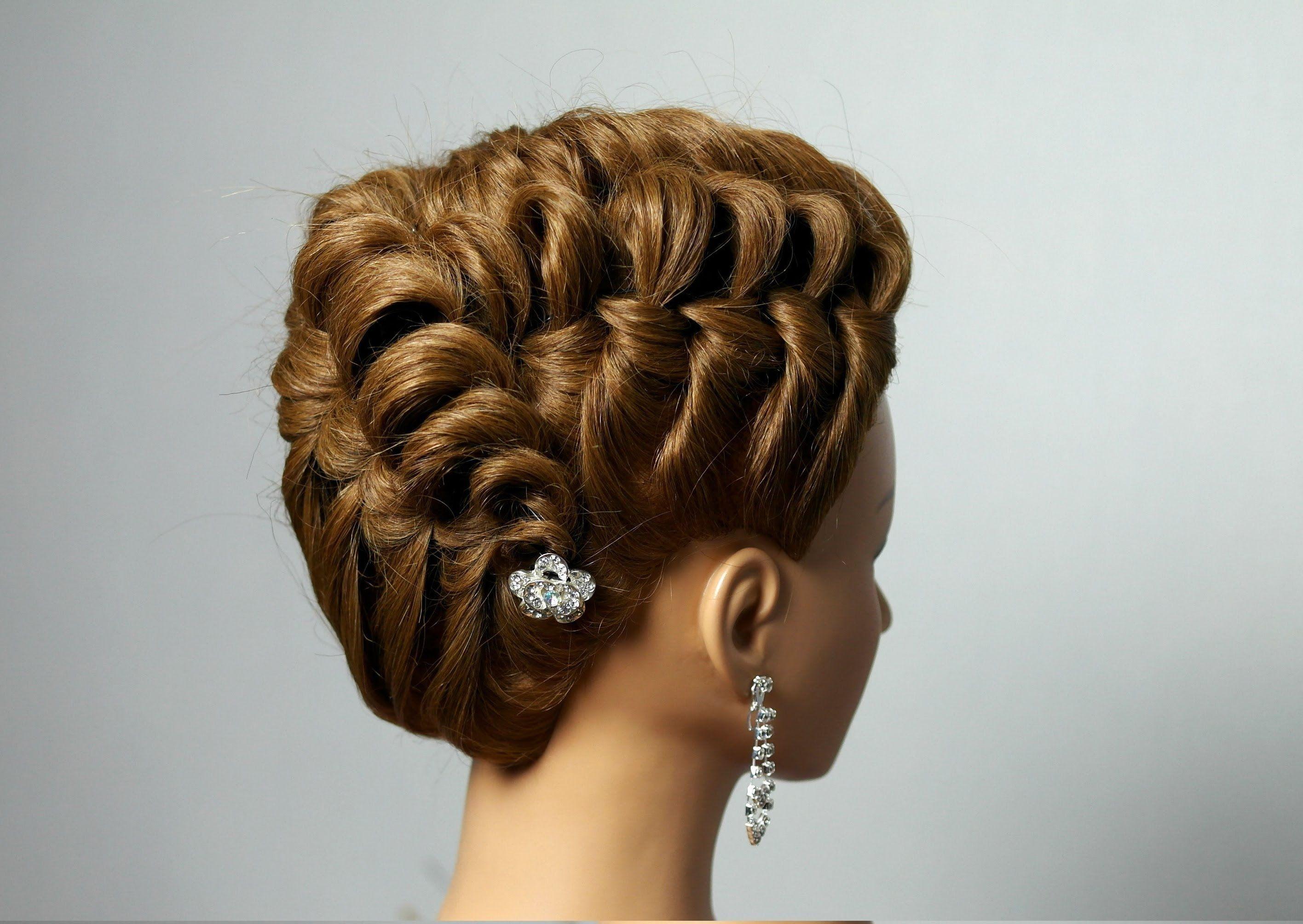 Hairstyle for long medium hair Вечерняя прическа на средние и