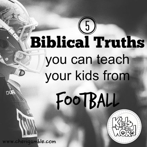 5 Biblical Truths You Can Teach Your Kids From Football   Fantasy football names. Football kids. Bible for kids
