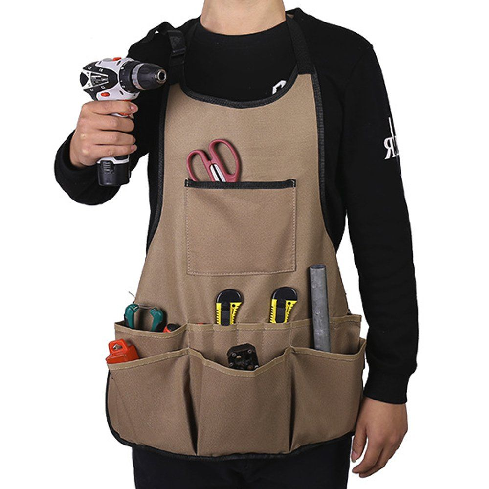 Huntiger Professional Work Apron With Pockets Durable Waterproof