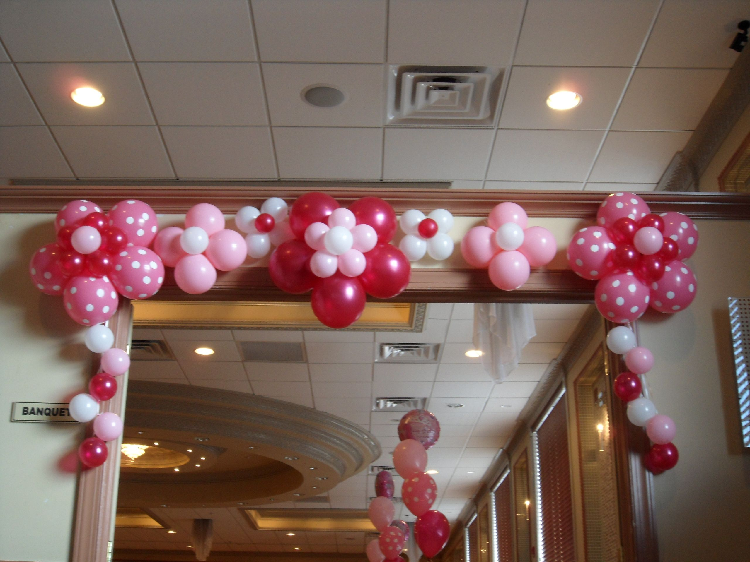 Flower Balloons For Door Entrance Decoration First Birthday Party