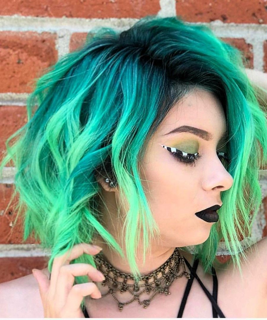 100 Super Cool Color Hairstyles Ideas In 2019 Neon hair