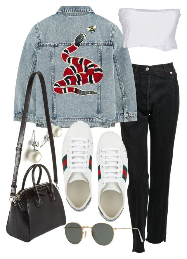 """Untitled #21467"" by florencia95 ❤ liked on Polyvore featuring Vetements, Gucci, Twin-Set, Givenchy and Ray-Ban"
