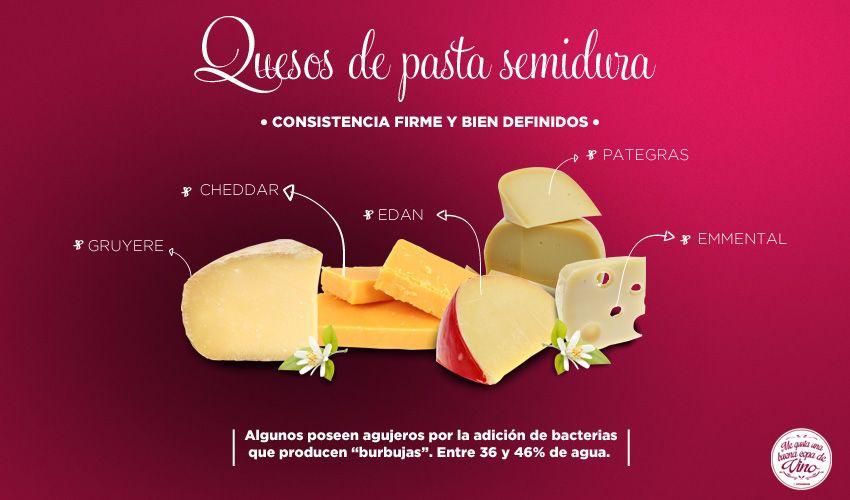 Quesos de pasta semidura: No tienen tanta fermentación o tiempo de maduración, pero si la suficiente para una mayor conservación.