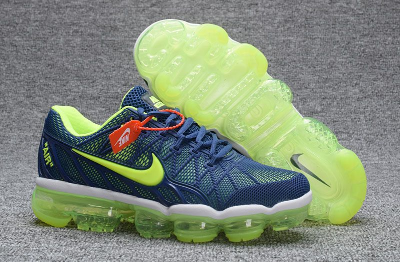 9e42778a50 Nike Air Max 2018 Kpu Dark Blue Fluorescent green Men's Running Shoes 849558 -407