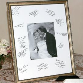 Wedding Guest Book Idea Have The Guests Sign A Mat Board To Go Around
