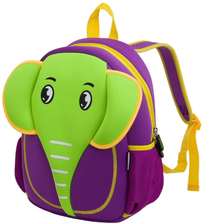 icci Animal Pack Little Kid Backpack, Elephant, Green