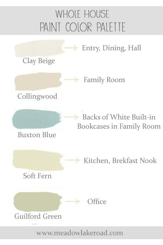 Calming Paint Colors Awesome A Whole House Paint Color Plan  Soothing Paint Colors Open Inspiration