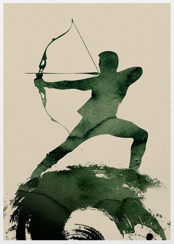 The Avengers Hawkeye A3 Poster Print. via Etsy. | DESENHO ...