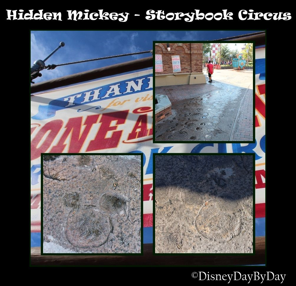 Hidden mickey monday storybook circus elephant tracks hidden