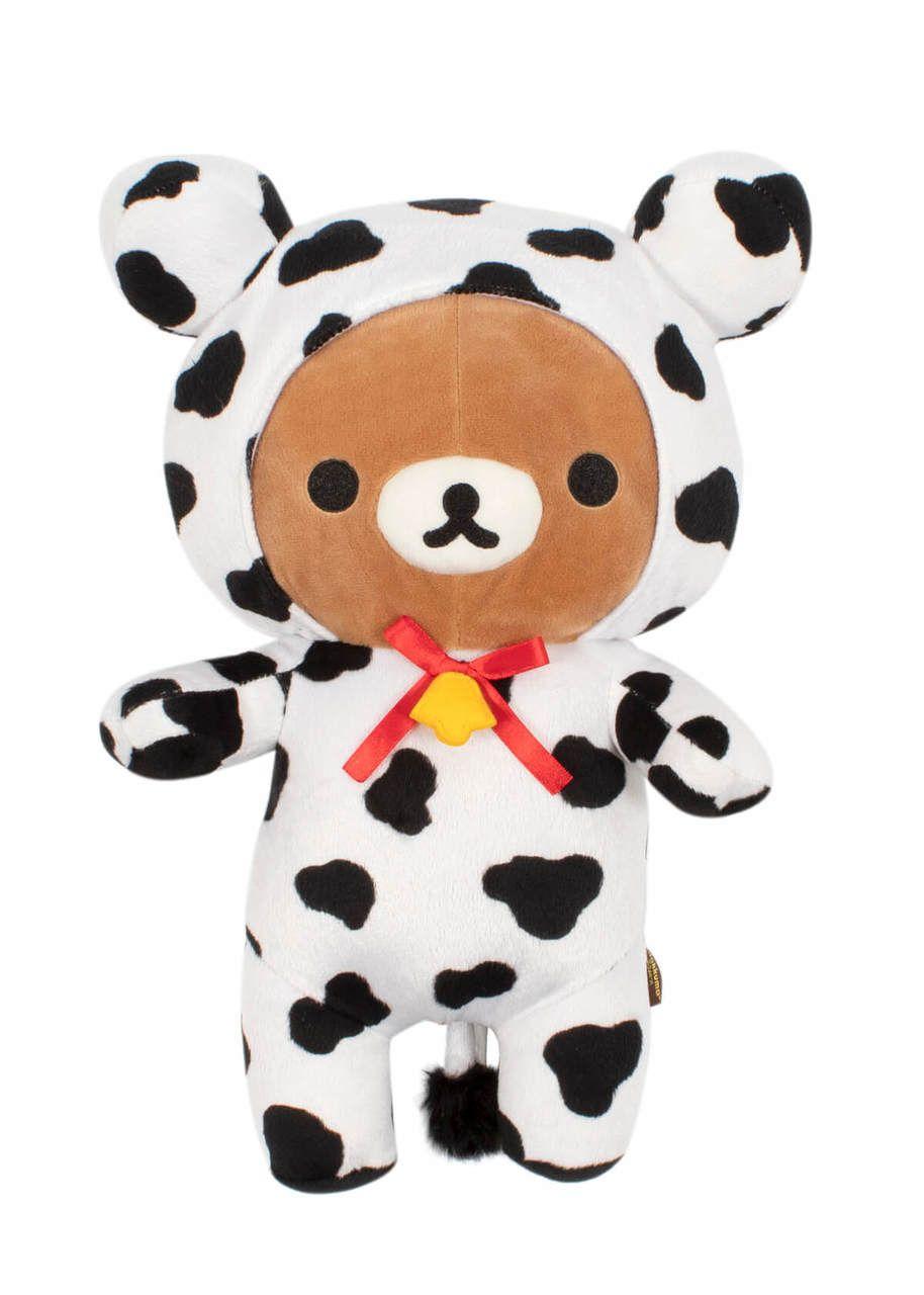 Rilakkuma Dressed as Cow Plush - jellybeet.com