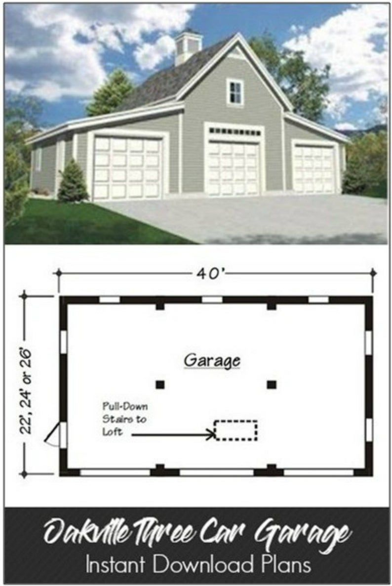 Oakville One Two And Three Car Garage Plans With Lofts And Expansion Sheds And Shops In 2021 Garage Plans With Loft Three Car Garage Plans Three Car Garage