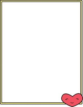 Free Valentine's Day Cute Smiling Heart Border | The Cutest ...