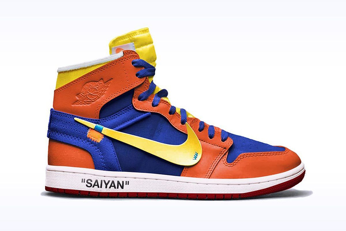 Here S What A Nike X Dragon Ball Z Collab Would Look Like Nike Concept Sneakers Sneakers