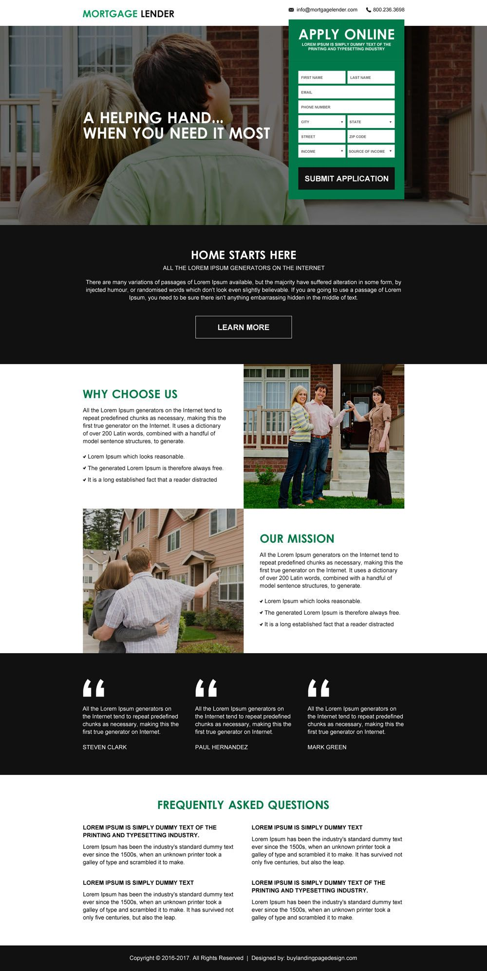 Mortgage Payment Calculator Lead Generating Landing Page