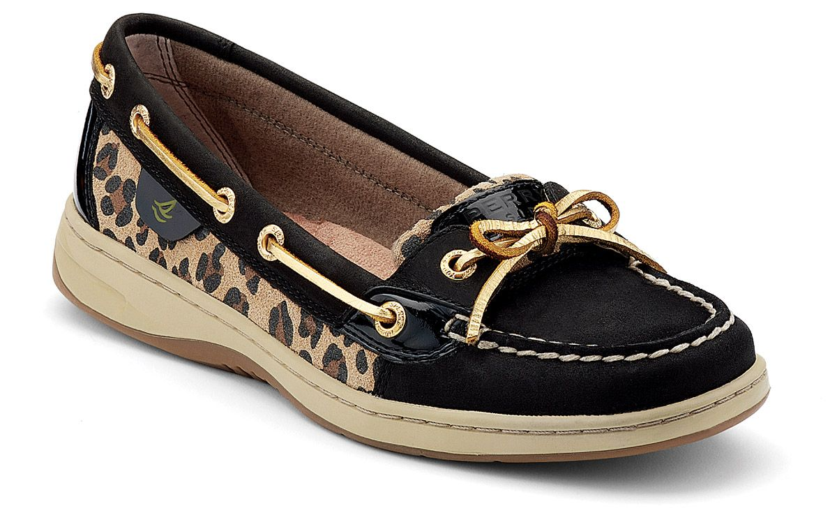 Black Cheetah Print Sperrys