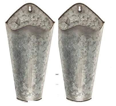 Amazon Com Farmhouse Style Hanging Wall Vase Planters 2 For Succulents Or Herbs Beautiful Wall Decor For Hanging Wall Vase Metal Wall Planters Wall Vase