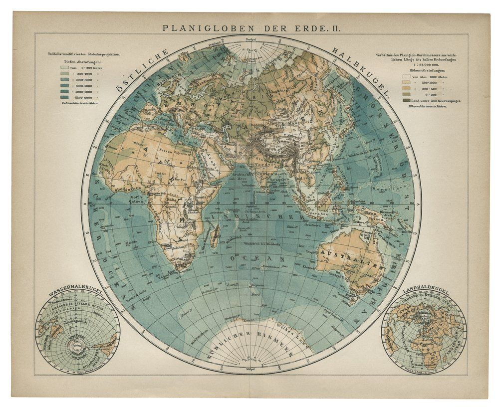 Vintage world map globe google search grad cap pinterest 1896 matted antique map world earth planisphere planiglobe arctic antarctica africa europe asia australia print gumiabroncs Gallery