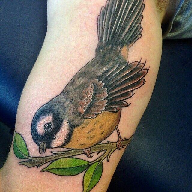 cute nz fantail bird tattoo by ben clark tattoos pinterest tattoo. Black Bedroom Furniture Sets. Home Design Ideas