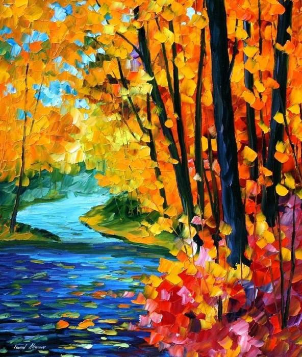 Sounds Of The Fall Painting by Leonid Afremov - Sounds Of The Fall Fine Art Prints and Posters for Sale