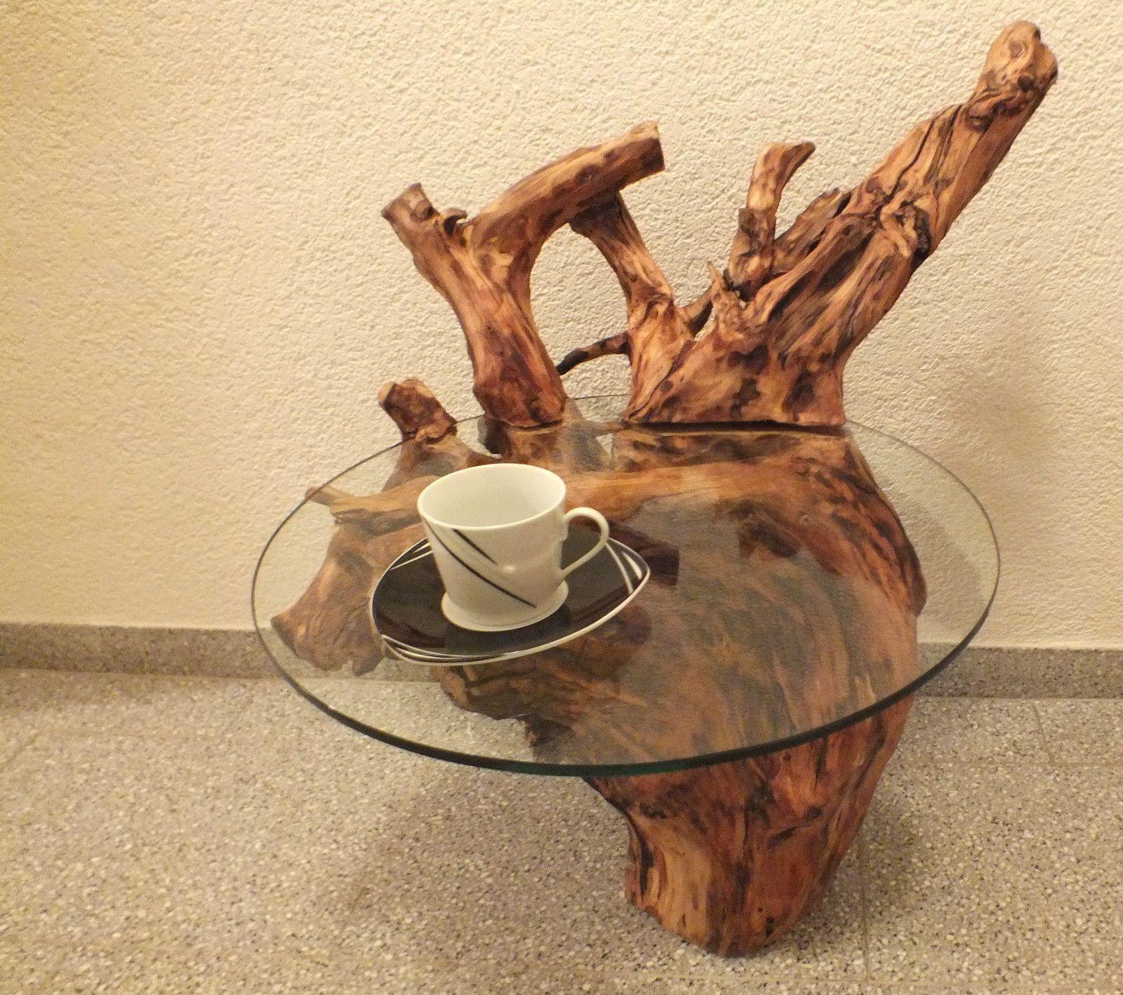 Holztisch wurzeltisch treibholz unikat beistelltisch for Beistelltisch treibholz