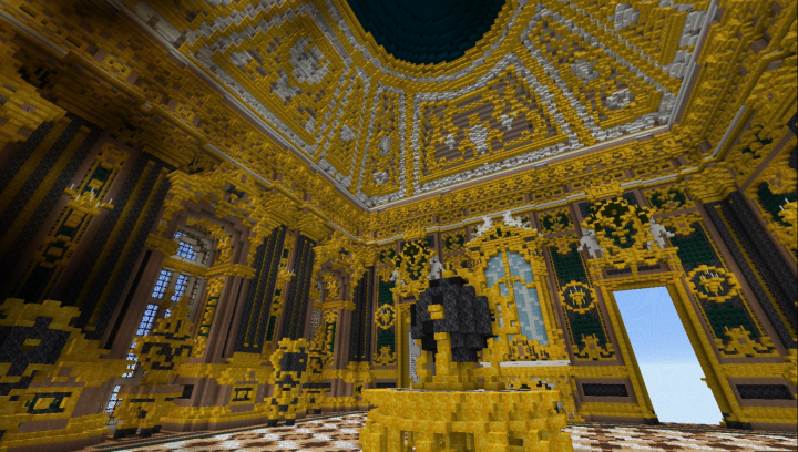 . The very first interior  Ceiling was hard as hell u   Minecraft