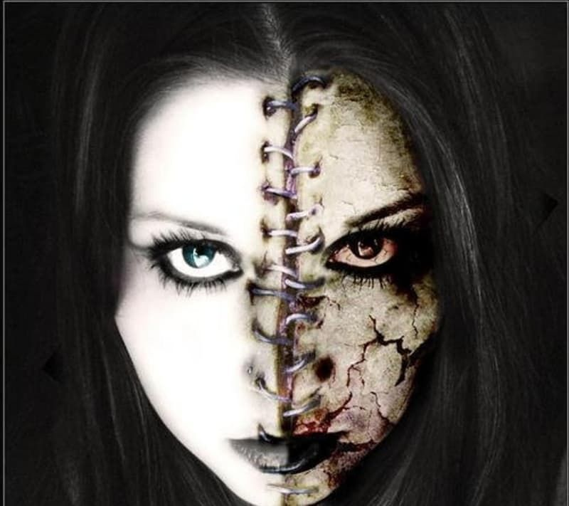 33 maquillajes completamente escalofriantes para probar este - halloween horror makeup ideas
