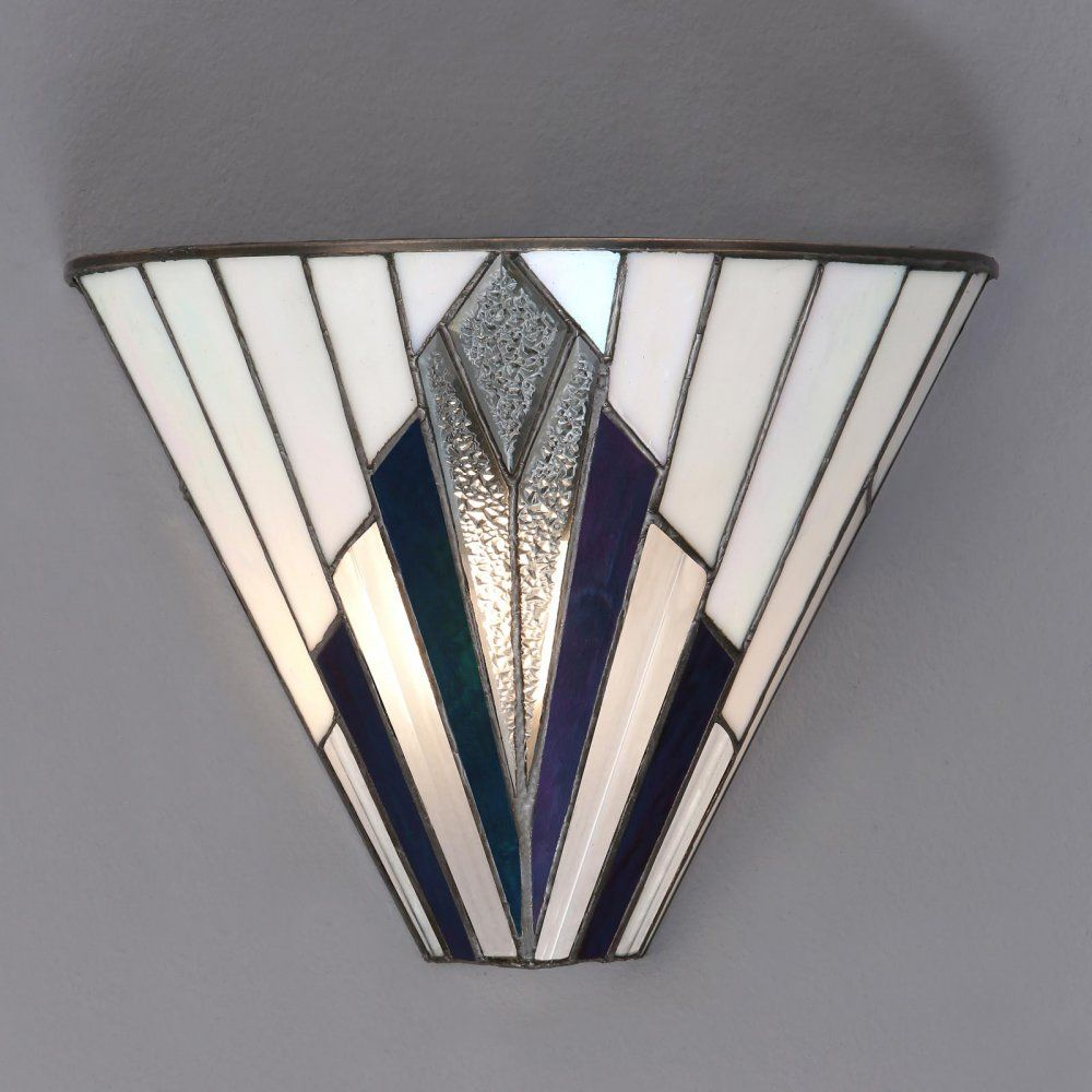 Astoria Tiffany Wall Light With Images Art Deco Wall Lights Art Deco Lighting Art Deco Lamps