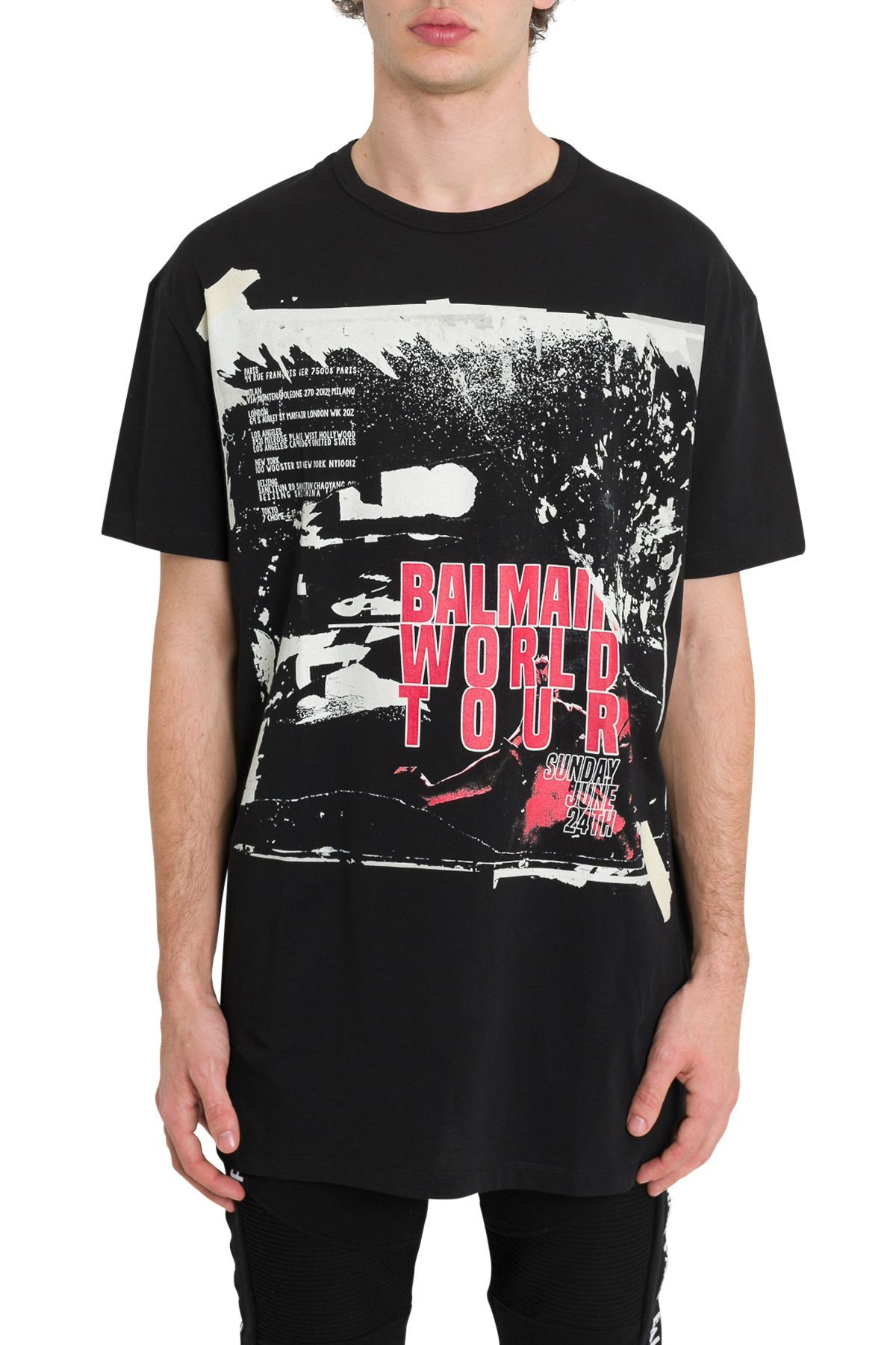 8ba6e504 BALMAIN WORLD TOUR PRINT JERSEY TEE. #balmain #cloth | Balmain in ...