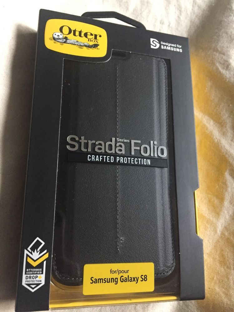 reputable site 8bff1 334e9 NIB OtterBox STRADA Folio SERIES Case Samsung Galaxy S8 BLACK ...
