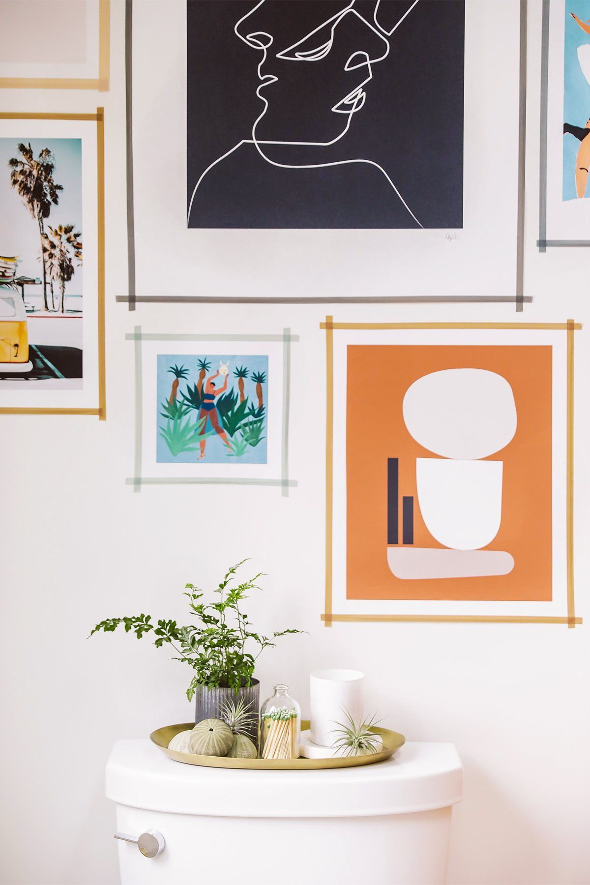 Hang Art With Washi Tape Instead Of Frames Diy