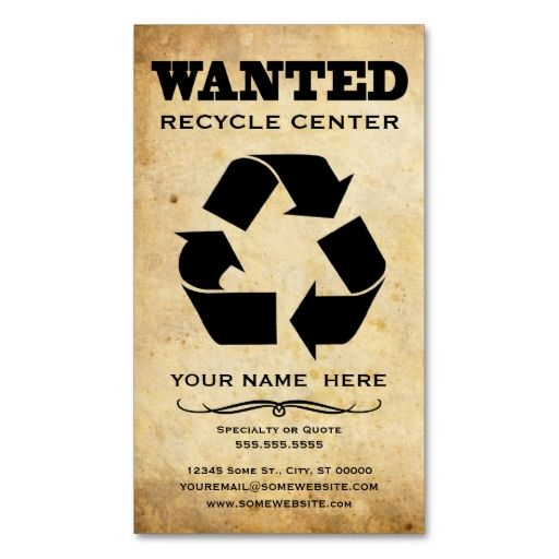 wanted : recycle center business card templates. This great business card design is available for customization. All text style, colors, sizes can be modified to fit your needs. Just click the image to learn more!