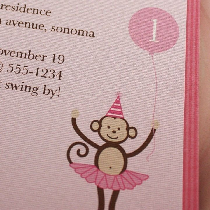 Printable+Personalized+InvitationBallerina+Monkey+by+KaydenAshley,+$15.00