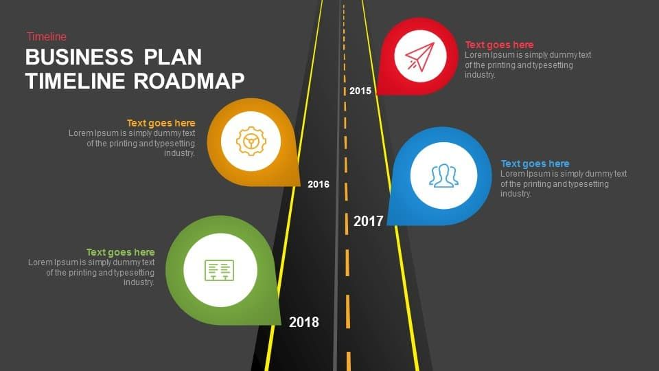 Business Plan Timeline Roadmap Keynote And Powerpoint Template - Keynote business plan template